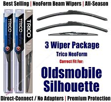 3pk Wipers Front/Rear NeoForm fit 1997-2004 Oldsmobile Silhouette 16240x2/30160