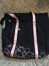 Prince Hibiscus Tote Tennis Bag Black/Pink. Nwt. Perfect