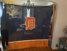"Detroit Tigers Baseball Custom Waterproof Shower Curtain 60 x 72"" (Not Used)"