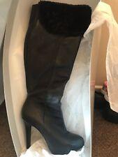 Jessica Simpson Audrey Black Knee High Boots - Size 39 UK6