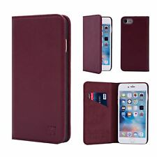 32nd Classic Series - Real Leather Book Wallet Case Cover For Apple iPhone 7 & 8