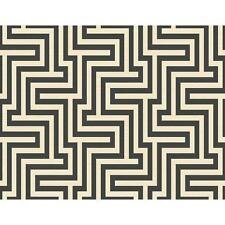 Wallpaper Designer Black and Cream Large Modern Geometric Labyrinth