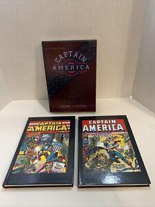 CAPTAIN AMERICA: THE CLASSIC YEARS HARDCOVER by Jack Kirby/Joe Simon 2 Book Set