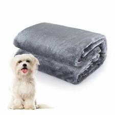 Dog Blanket Puppy Cat Kitten Pet Blanket 40 x 50 inch Grey Fleece Throw Blanket