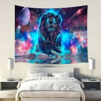 150 x 200cm Universe Lion Tapestry Room Wall Hanging Throw Blanket Home