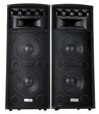 "COPPIA CASSE ALTOPARLANTI A TORRE PAVIMENTO DJ PA 2X12"" SUBWOOFER 30CM 1600W"