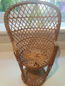 "WICKER DOLLS CHAIR 16"" EXCELLENT CONDITION"