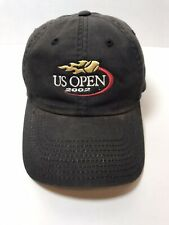 SHIPS FREE 2002 US OPEN Tennis Championship Official Cap Hat Black Distressed