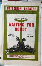 1955 Waiting for Godot POSTER Criterion Theatre Samuel Beckett Peter Hall
