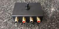 Audio Switcher Dual Channel Fentronix Gold RCA Phono Connectors , 2:1/1:2 Black