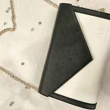Arthur McQueen Envelope Carmen Clutch Bag black and white new with tags
