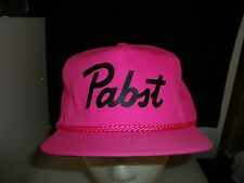 Baseball Cap PABST BEER NEON PURPLE Trucker Hat Unique Retro Rare