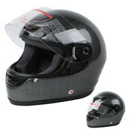 Carbon Fiber Flip Up Full Face Motorcycle Helmet Street DOT APPROVED Size S~XXL