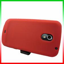 Custodia silicone ROSSO per Samsung Galaxy Nexus i9250 flessibil antiurto case