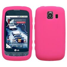 Hot Pink Silicone SKIN Case Cover LG Optimus S LS670