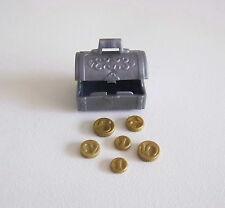 PLAYMOBIL (M112) VIKINGS - Coffre Gris Argenté & 6 Pièces d'Or Trésor 5003