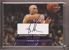 MIKE BIBBY 2003/4 FLEER ULTRA AUTOGRAPH /350