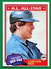 1981 Topps Carlton Fisk #480 HOF  Red Sox