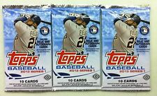 3-Pack Lot 2013 Topps Baseball Series 1 10-card HOBBY Pack (Rookie Relic Auto)?