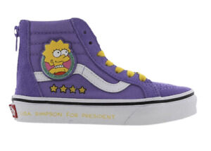 Vans X Simpsons Sk8 Hi Zip Toddler Size 4.5 Lisa 4 Prez Sneakers Half Box