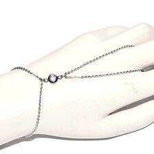 Chaîne de main bracelet bague acier inoxydable cristal blanc bijou