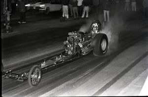 Front Engine Dragster - Driver Helmet Name 'Ray' - Vintage 35mm Race Negative