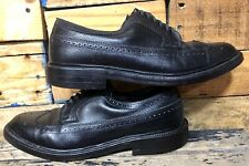 Hanover LB Sheppard Long Wing Black leather Men's Size 9.5 D/B Oxfords Shoes
