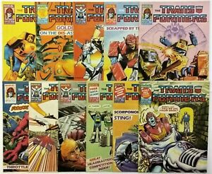 TRANSFORMERS COMICS LOT Issues #121 - 124, 126 - 132 July to Sept 1987 MARVEL UK