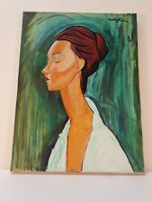 "Amedeo Modigliani  Oil Painting ""Portrait Woman"""
