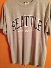 Seattle Washington Gray T-Shirt Size Large Unisex