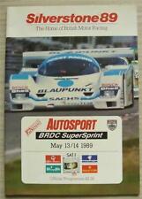 SILVERSTONE 13/14 May 1989 AUTOSPORT BRDC SUPERSPRINT A4 Programme