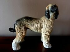 Vintage Coopercraft Porcelain Figurine Afghan Hound Hand Painted Made in England