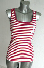 Ladies M&S Collection Sizes 8 14 Pure Cotton Striped Vest Top Bnwt Staynew