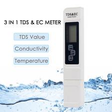 3 in1 Digital TDS EC Water Quality Temperature Meter Tester Filter Pen Stick UK