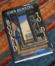 BOOKED TO DIE John Dunning 1992 1st Ed First Edition 3rd Printing Cliff Janeway