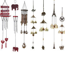 Copper Tube Yard Garden Outdoor Living Wind Chimes Windmill Lucky Charming Decor