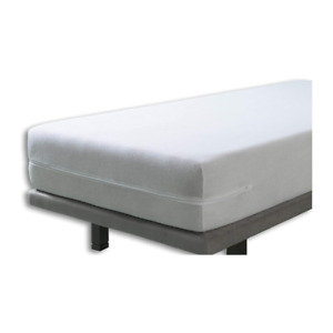 Elastic Cover Mattress Bed Protector Fully Enclosed Zipped Double 150x190/200cm