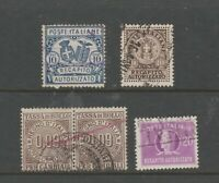 Italy revenue fiscal stamps 11-8-20-1a Postal