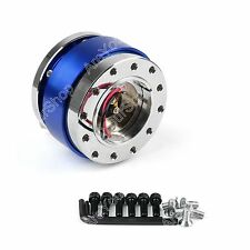 Universal Steering Wheel 6-HOLE Quick Release Hub Adapter Snap Off Boss Kit BL Y