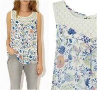 ex Monsoon Floral Split Layer Swing Casual Top