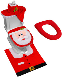 3D Nose Santa Toilet Seat Cover Funny Christmas Decorations Xmas Holiday Gift