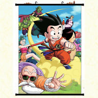 Anime Dragon Ball Z childhood Goku Wall Scroll Poster Home Decor Art Cos Gift