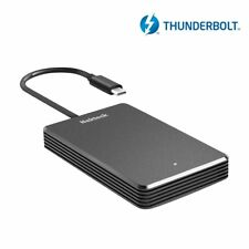 256GB with Active Cooling for TB3 Fledging Shell Thunder SSD TB3 Enclosure NVME PCIe Portable External SSD Enclosure m.2 to TB3