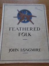 Feathered Folk 12 impressions of woodland Life Pianoforte Sheet Music J Longmire