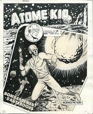 RARE EO DESSIN ORIGINAL BAYO COUVERTURE ATOME KID N° 18 ( 1958 ) + FASCICULE