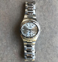 Fossil Mens Watch AM3750 All Stainless Steel With Silver Dial With Date Bin V
