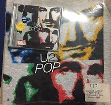 U2 – Pop  - CD + T-Shirt  Numbered  Pack  731452433428  - SEALED MINT NEW
