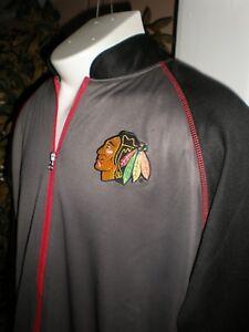 NEW NHL Chicago Blackhawks L/S WARM UP JACKET SZ:MT M TALL