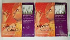 "Specialty Lighting Electric 9"" Tapered Candles 20 Light Indoor Set 2 New"