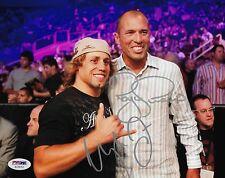 Urijah Faber & Royce Gracie Signed UFC 8x10 Photo PSA/DNA COA Picture Autograph